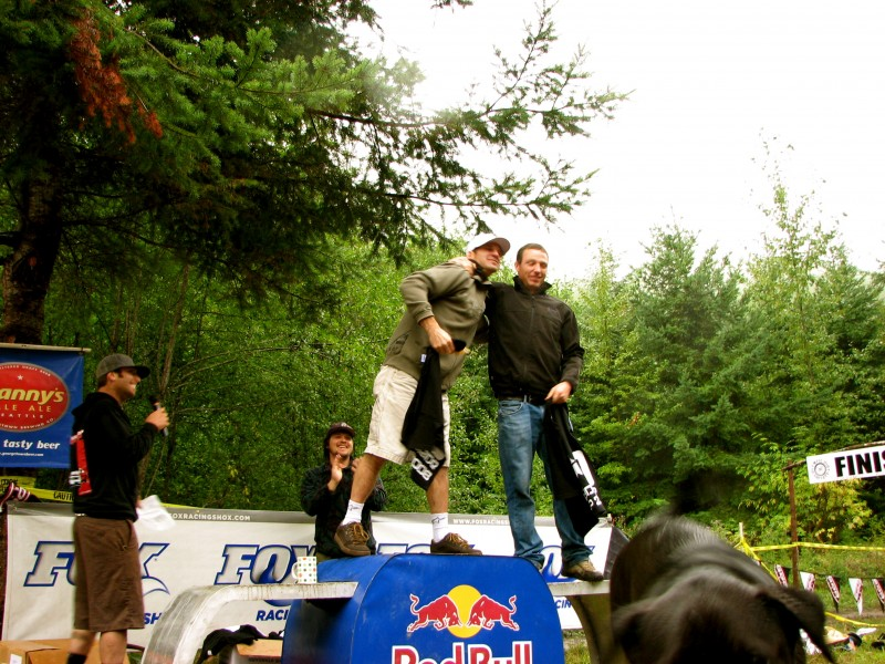 1st and 2nd place pro men DH