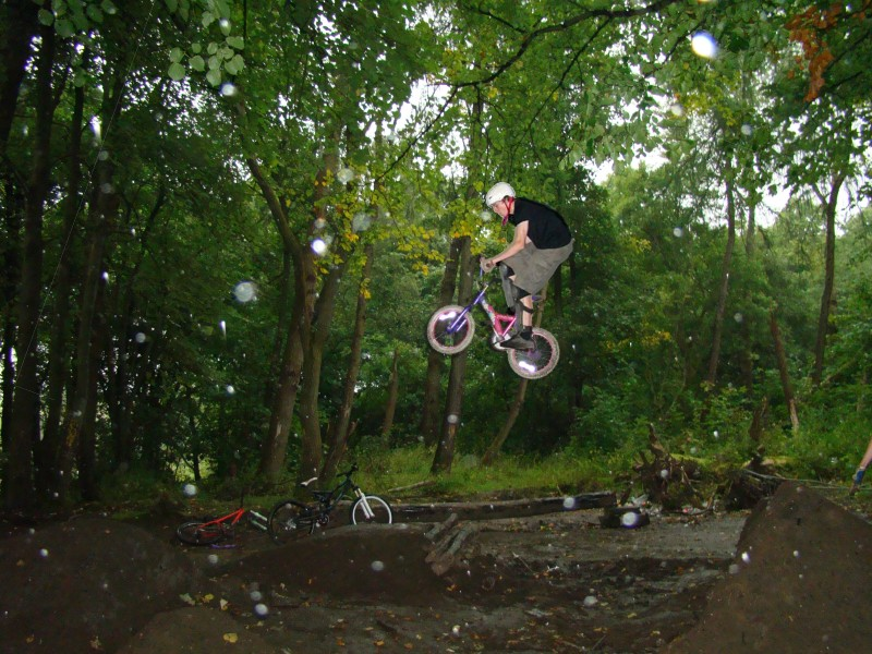 Adventures of the pinkbike, this takes balls 18ft on a mini bike