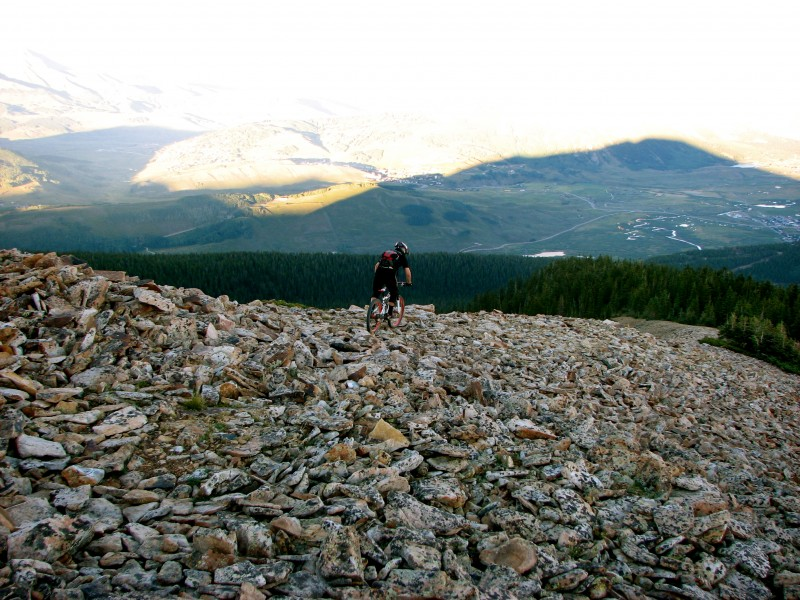 Riding the boulder field. What a feeling!