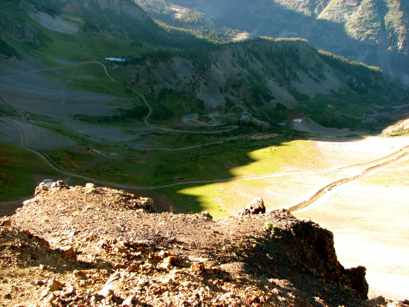 Looking down on the up route! Wow that's a long way down.