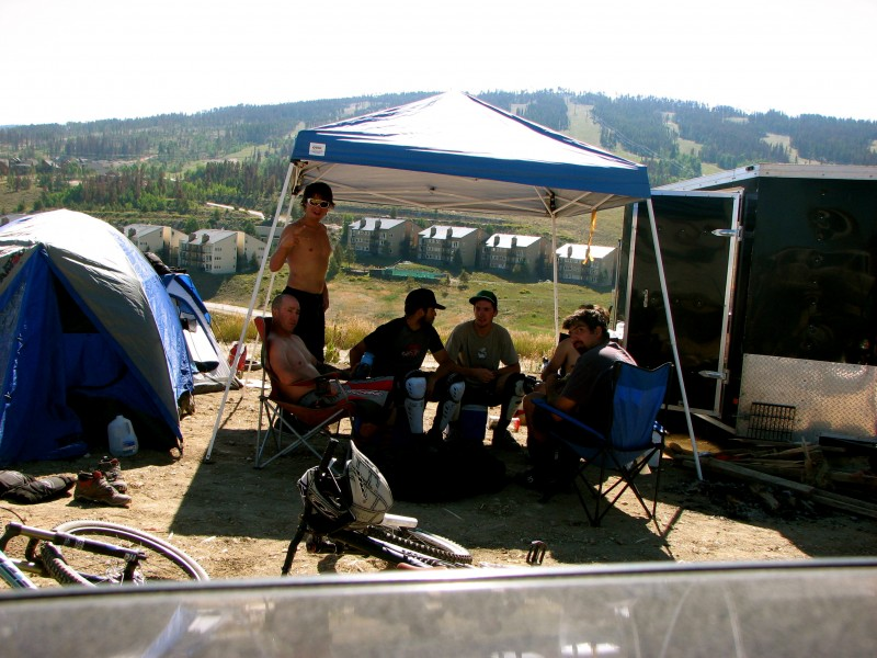 Hanging at the camp site