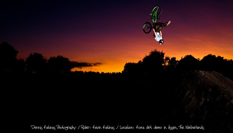 one of my best pictures I guess. My brother Kevin doing a super flip during a stuning sunset.