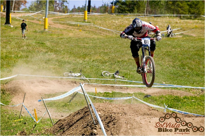 It was great to see Pinkbike team member, Derek Chambers, make the trip to Colorado for the Sol Squared race at SolVista!