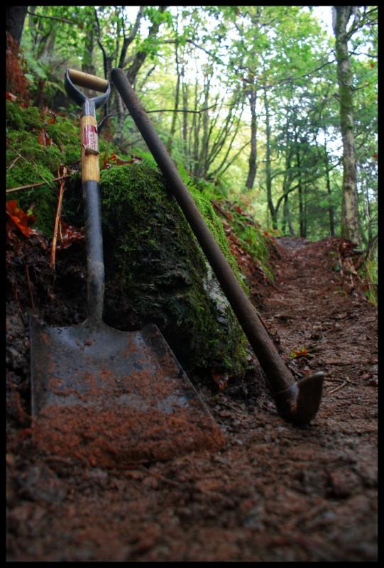 Trail building tools.