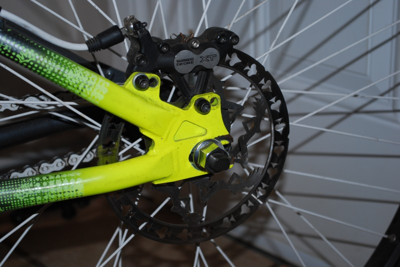XT brake with pimpin' rotor
