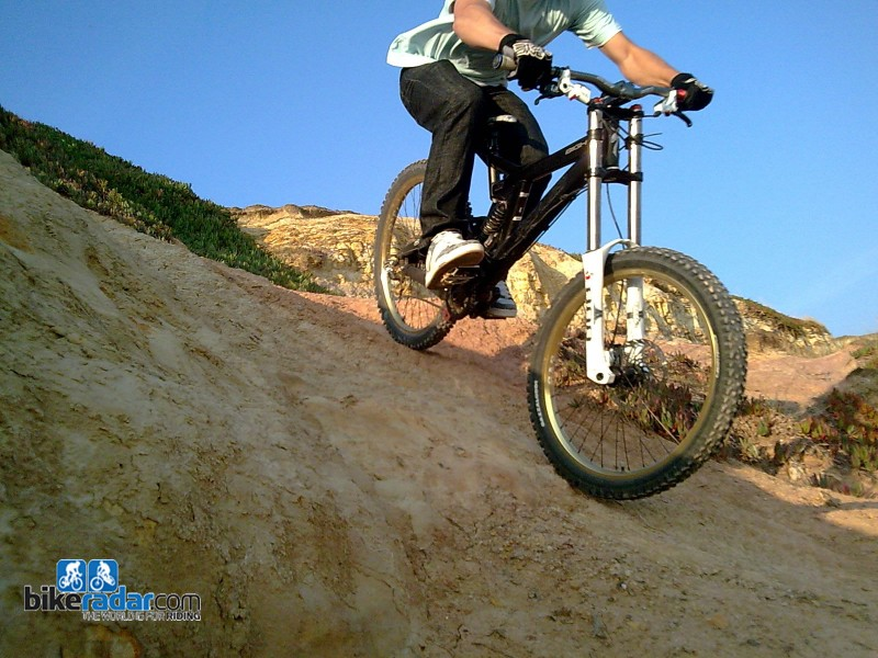 Me Riding...The Bikeradar Part is just a larf..dont get stressy !!!