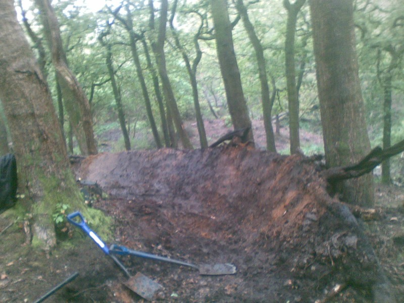 Just a new berm in a new track that we dug in the rain....