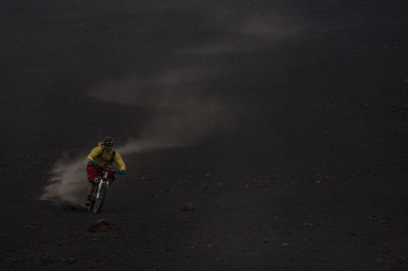 Pure Freeriding at the Etna Volcanao. Like a endles powderfield...  Pic by Marco Toniolo