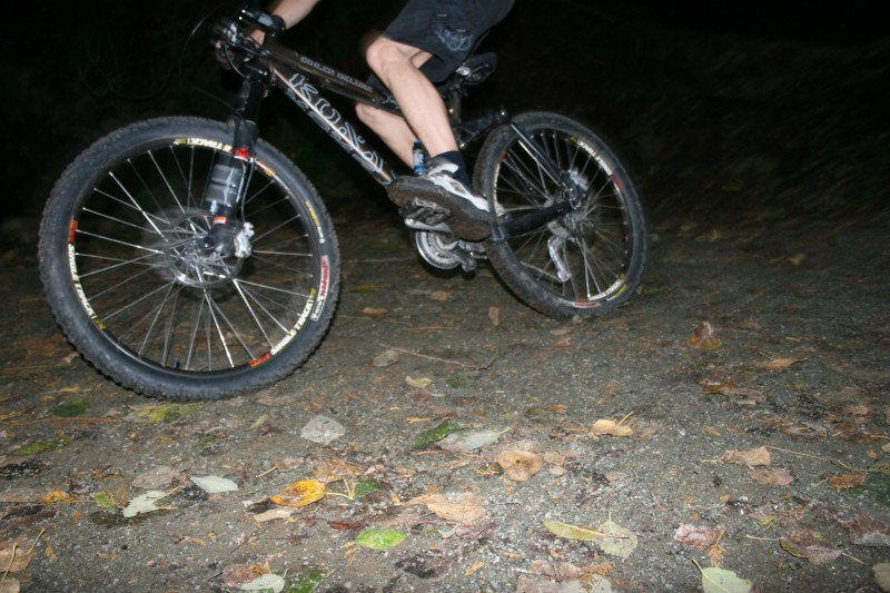 Gavin out test riding the WTB Weirwolf tires on Little Mountain.