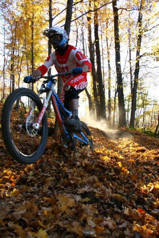 Riding with the Devinci Crew at Ski Bromont in Quebec.