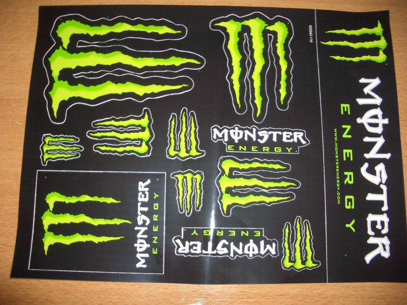 monster energy stickers at monster energy sticker sheet in. Black Bedroom Furniture Sets. Home Design Ideas