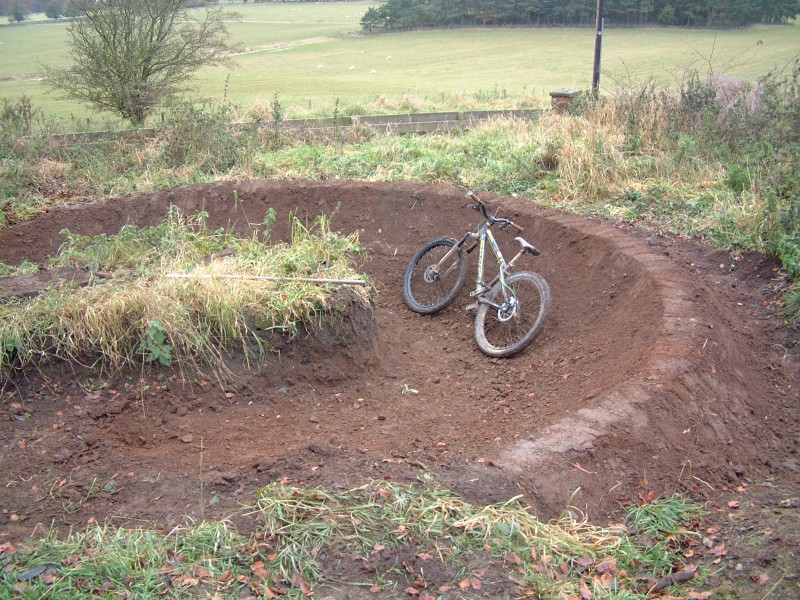 New berm just needing finished off