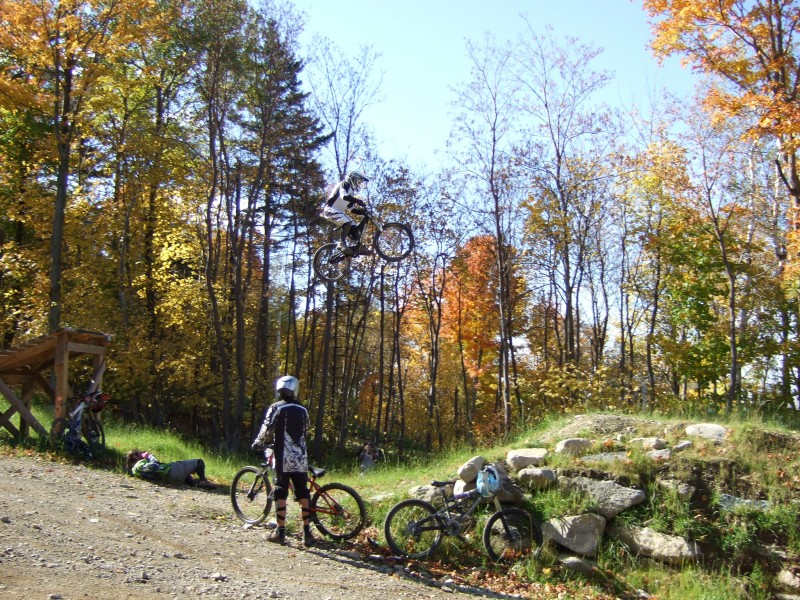 Going big @ Bromont  Chad Hill in the background