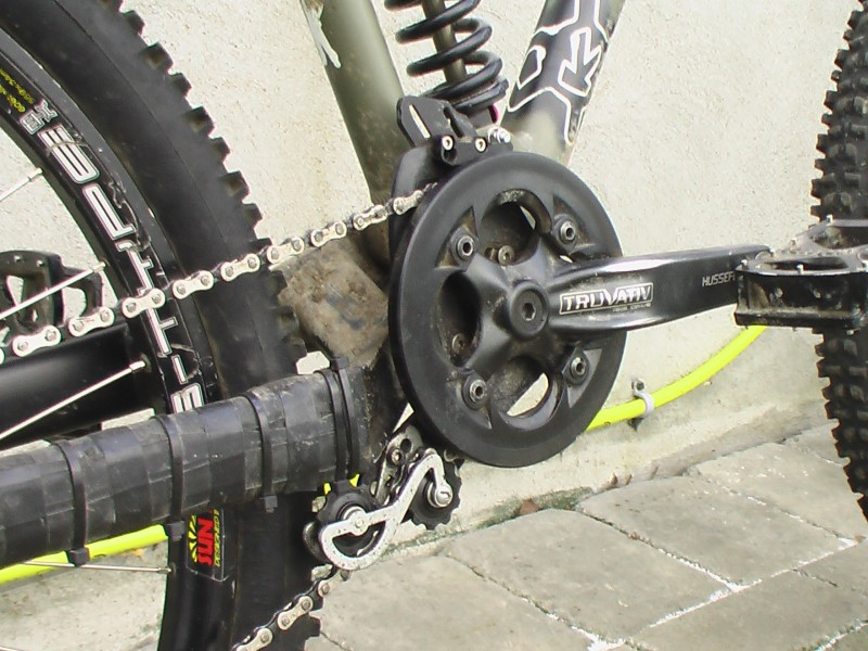 modified e thirteen chain guide, homemade rollers