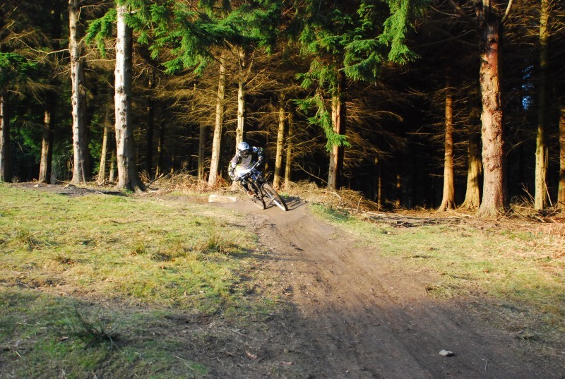 going around the berm before road gap