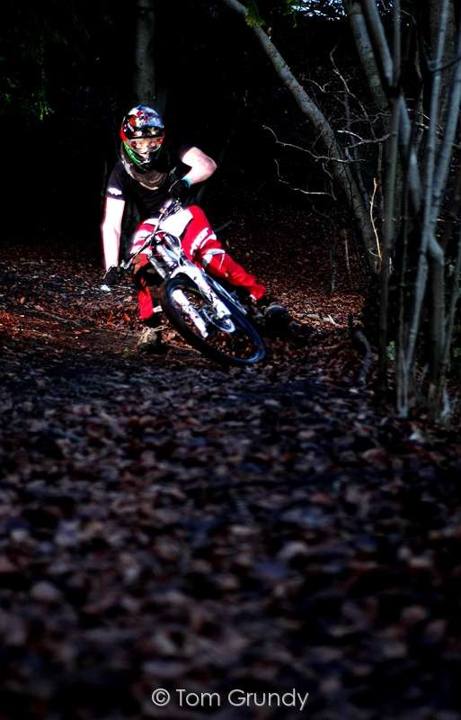 Drifting Foot Out round the berm
