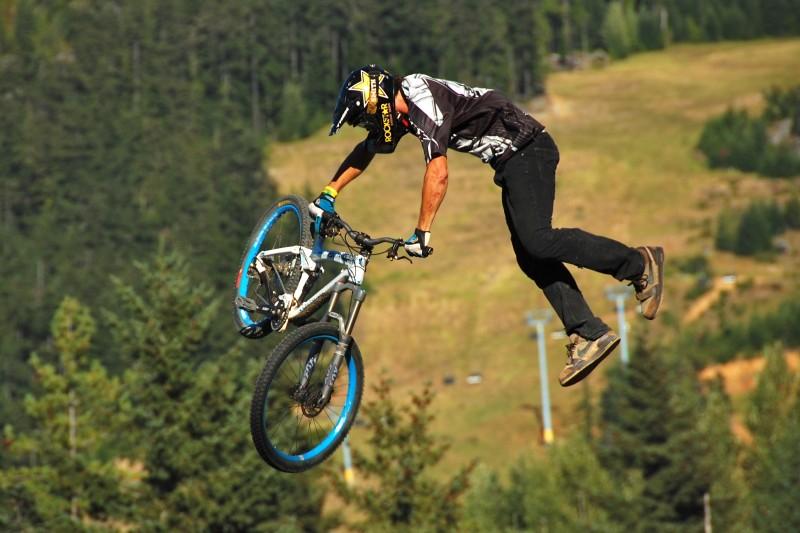 Whistler Crankworx 2008 best trick on the dirt double