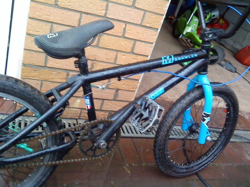My crappy bmx for messing around on and going to school