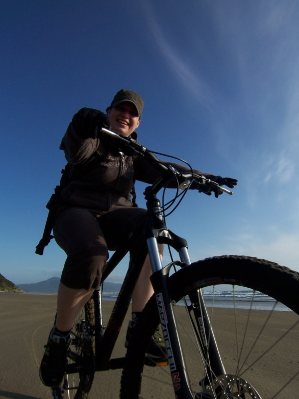 Riding around on the beach in oregon