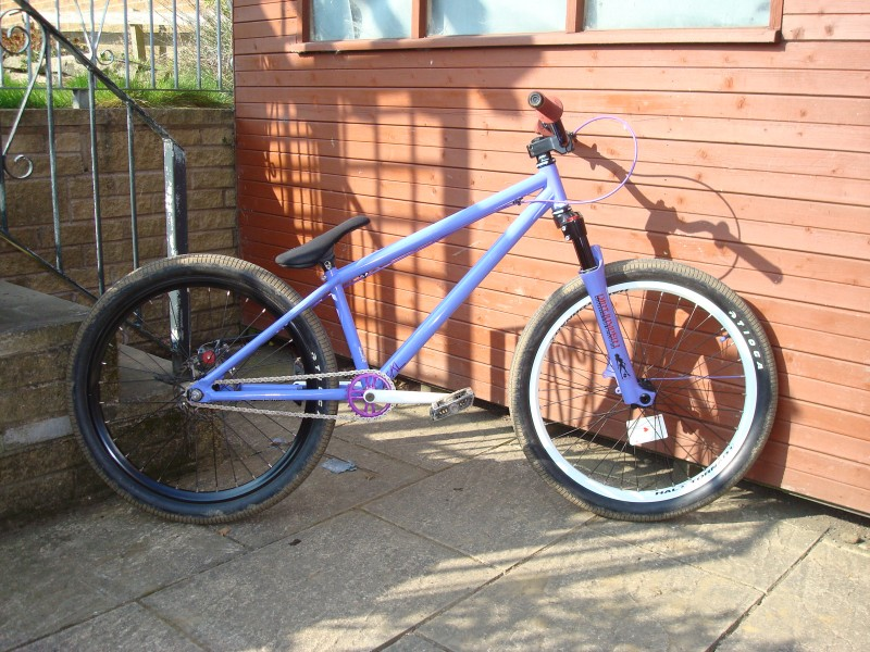 my bike with sus fork and new sprocket