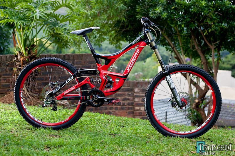 Sam Hill's new Specialized. Photo from transcend magazine.