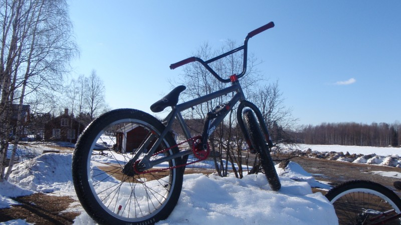 My kink whip, only rear wheel and frame stock :)