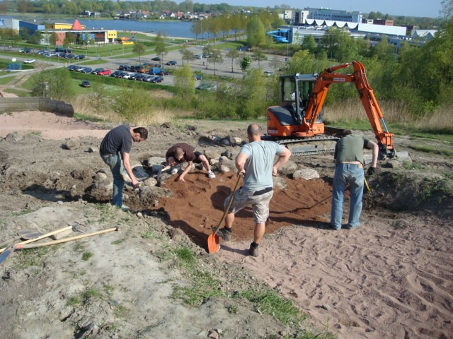 Building the rock garden