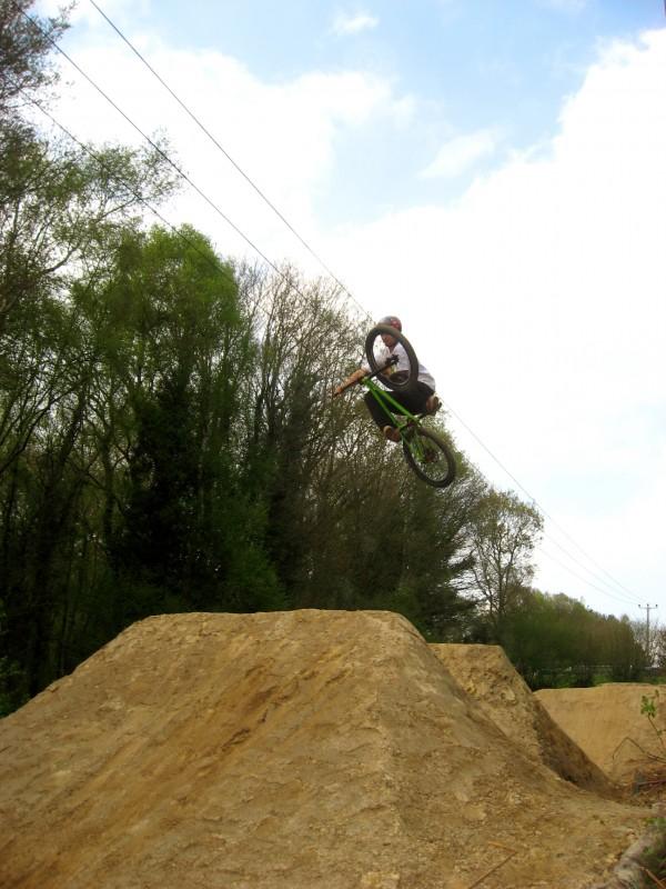 bike turner on the dirt hill