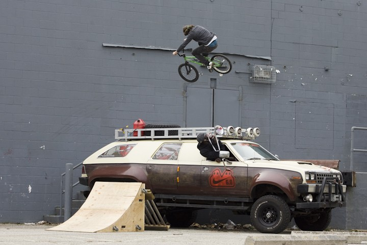 sick 180 over the Nike 6.0 truck
