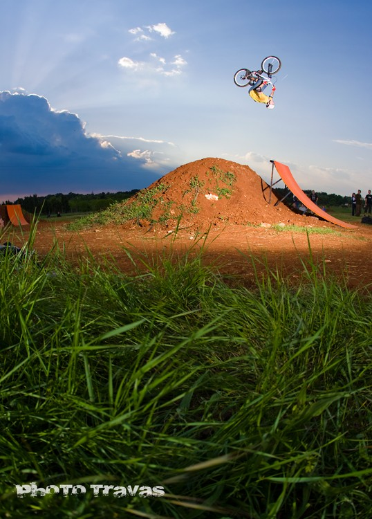 Photo: Luka Travaš from Zagreb ...My firt backflip attempt on a dirt jump, and I landed perfectly