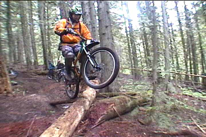 Getting a little air.  The trail if full of ramps like this.