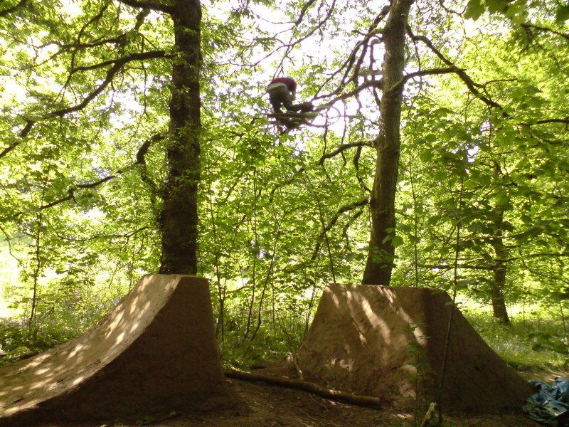 Table on the 8th, finally got it working.  Photo published in Dirt mag welshside bit issue 91.