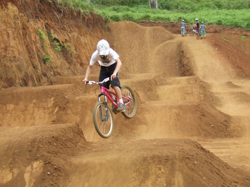 Trying some dirt jumping