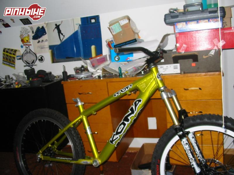 "my 2002 kona stuff , im buying everything off pinkbike.com asa little project i like to call ""operation-dear-caught-in-headlights""     