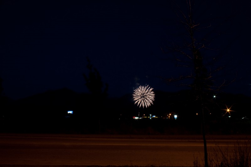 Time Lapse of fireworks.