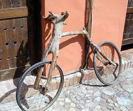 Wooden log bike