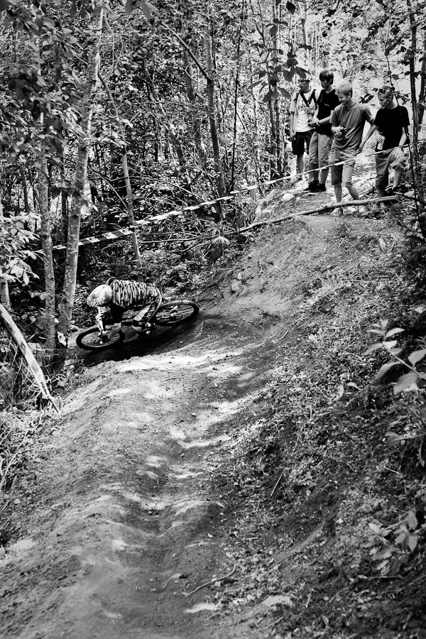 Drifting trough berm. Pic from Finnis DH-cup.