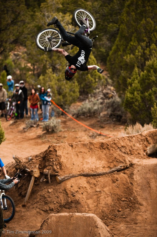 Jon Erickson hits the eject button on a flip whip during practice.  More Photos: http://wwww.timzimmerman.com/ranchstyle