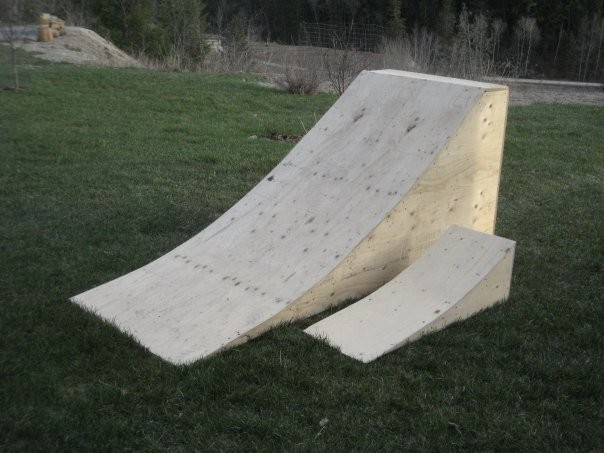 My wooden ramp. Little ones my brothers.