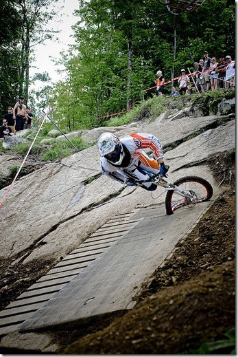 Not my photo Kyle Marshal's crash at bromont world cup.