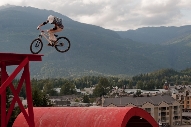 Martin Soderstrom with a clean 360 off the SRAM ladder.