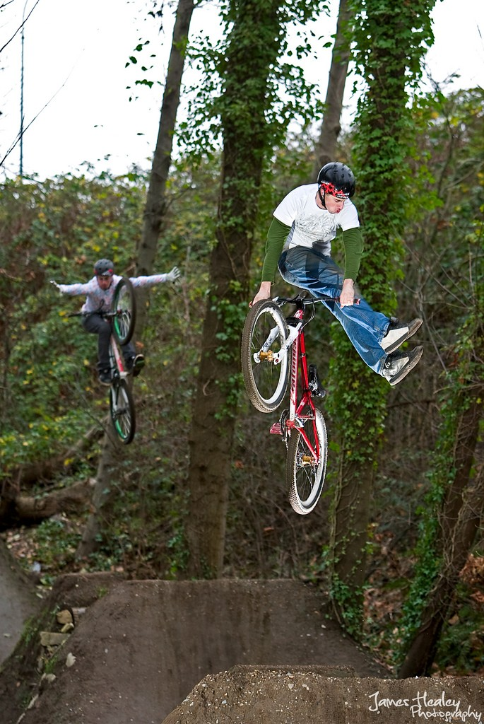 Nick Meyer no foot can, Ryan Meyer tuck no hander.  James Healey Photography