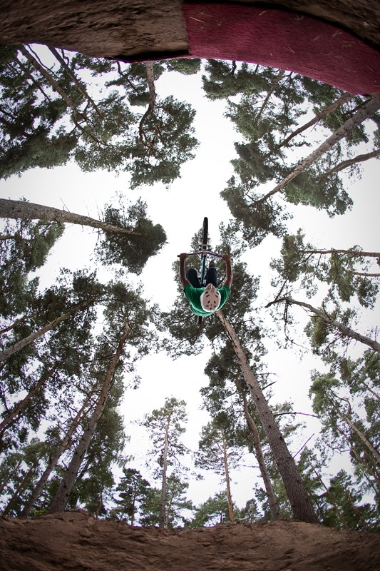 backflip viewed from inside the jump