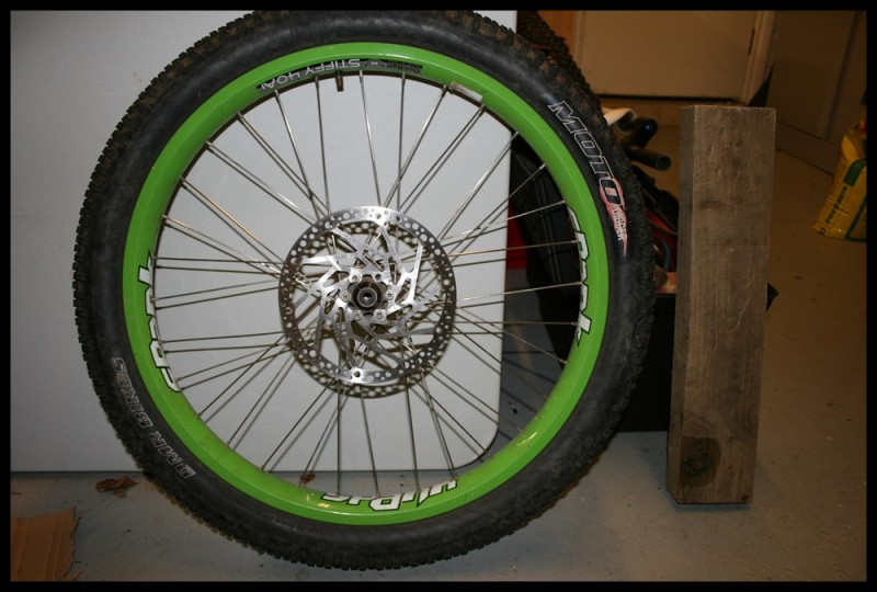"""hope pro 2 on spank 24"""" rims  £150 for pair posted"""