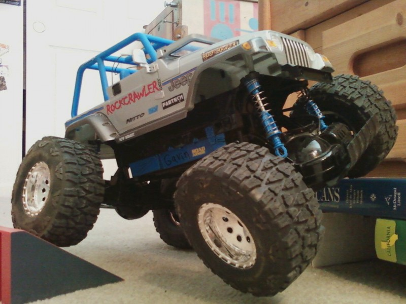 my rc flexin! its has modified suspension and more travel coming soon!