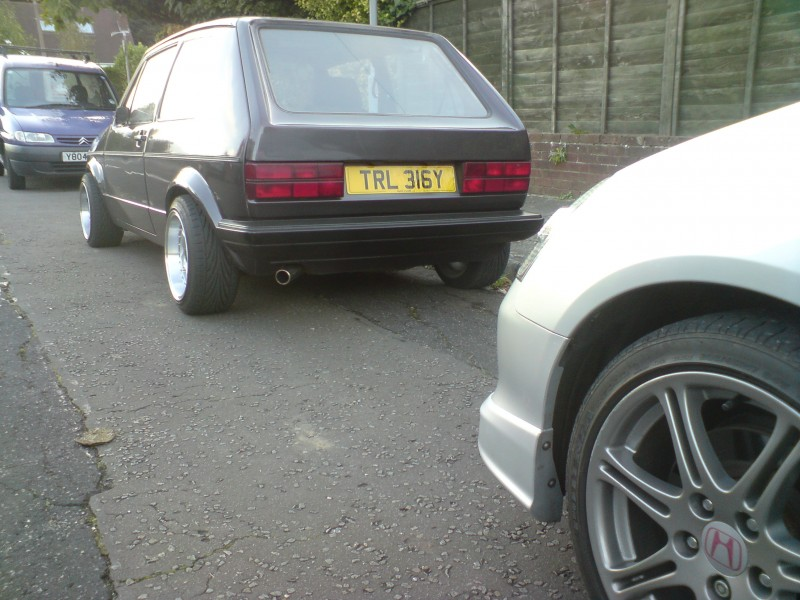 My Type R and my bros 1.8T 20v mk1 Golf and belingo.