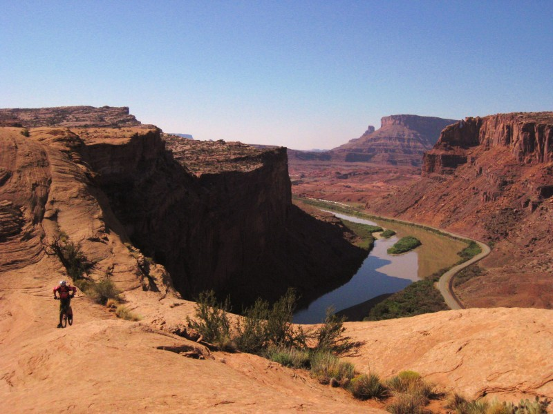 Riding in Moab.