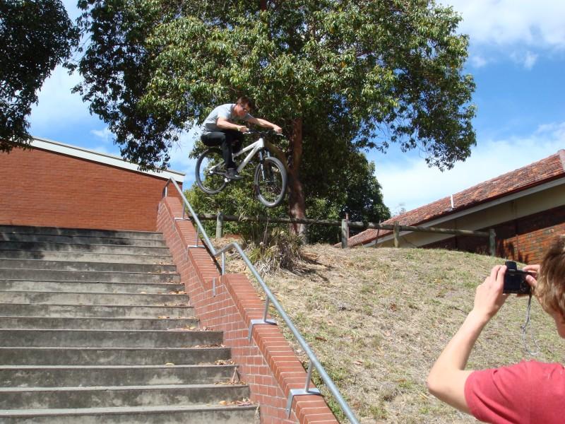 Little stair case jump.
