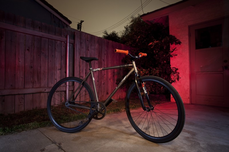 """This is a barspinable Subrosa fixie with 415mm tech9, underboss stem and 25.4mm BadaBooms cut to 21"""" and Hauck grips for those of you tired of pedaling your MTB to the bar... store."""