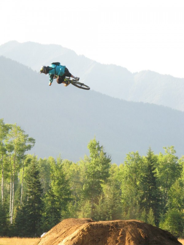 "Shot from one of my warm up jumps during the Fernie shoot for the film ""Life Cycles"". Read about it at www.mike-hopkins.com . Photo credit: Paul Rak"